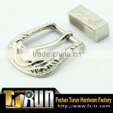 Guangdong factory leather belt accessory two joint buckle