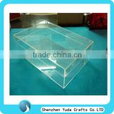 custom perspex shoe box,clear acrylic shoe box,acrylic football boot display case