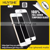 HUYSHE mobile phone accessories matte tempered 9H glass screen protector for Apple iphone 6