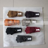100% acylic knitted fingerless glove with flap in different colors