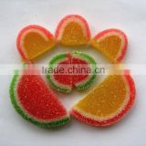 Soft Fruit Jelly Candy, Orange Slices Candy with Sugar Coated Flavour