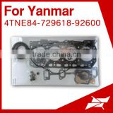 4TNE84 overhaul gasket kit set for yanmar generator for komatsu mini excavator engine parts