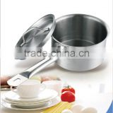Stainless steel sauce pan with cover