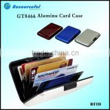 Locking aluminum PVC/ABS bank credit card holder card case