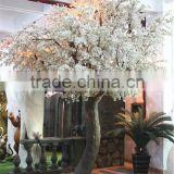 Home garden decoration 100cm to 1000cm Height artificial indoor live plastic ficus red with green big tree EZLS05 1008
