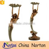 Art collection Bronze nude women fountain as gift NTBF-MF010Y