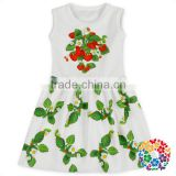Baby Girls New Fashion Flower Petals Dress White Princess Sleeveless High Quality Dress