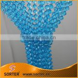 2017 Fashion wholesale faceted acrylic crystal bead curtain/acrylic stone beads curtains