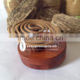 Agarwood incense coils - Natural color brown of agarwood -made with the resinous heartwood pulp of the Agarwood tree