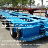ChinaTrailers Produced CHEAP Nicolas Version Heavy Duty Multi-Axle Hydraulic Lifting Modular Trailer