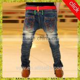 2015 New style blue Children jeans, boy jeans elastic waist,Spring and autumn wear for kid