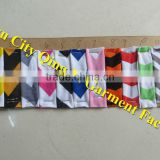 Yiwu City Qing Li Garment Factory Cotton Chevron Print Color Chart Colorful Kids Zigzag Color Chart
