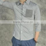 2015 100%cotton Customized feather Embroidered slim fit men dress arabic shirt