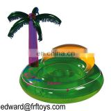 Inflatable floating island, inflatable water floating island, inflatable fun floating island