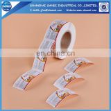 Custom full color printing paper adhesive sticker in roll