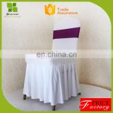 fancy wedding decoration chair covers with side pleats for wedding