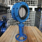 NBR Seat Worm Gear Flange Butterfly Valve Cast Iron Electric Actuator