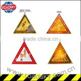 Construction Warning Triangle Metal Led Flashing Traffic Signs