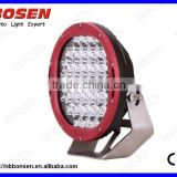 Hot sale----- ARB 185W high power balck/red led work light 10-30V DC, round 185W led work light for cars