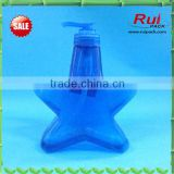 320ml plastic bottle,high quality unique five-pointed blue star plastic gift nail polish bottle