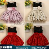 European Newest Top Sleeveless Girl Christmas Flower Dress Cute Baby Girl Ballon Skirts Kids Princess Party Dress Full Dress