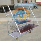 Folding Danish trolley, folding flower display rack, foldable plant rack, foldaway flower cart, plant stand, metal rack