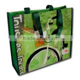 supermarket PP Woven Shopping Bags with Full Colours Printing, PP Woven Lamination Shopper Bags