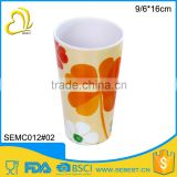 novelty direct price round melamine custom printed tea cups