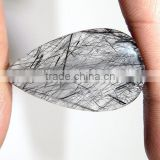 Natural Black Ruhtile Cabochon