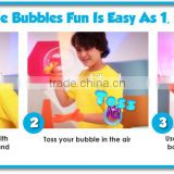 2014 hot selling new magic bouncing bubbles As seen on TV bubble game magic bouncing juggle bubble maker