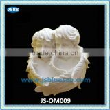 Wall ornament of lovely marble baby statue