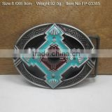 Decorative two prong logo name plate belt buckles custom belt buckle belt buckle with Rhinestones