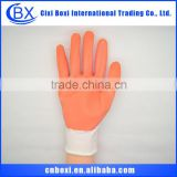 2014 Brand new white/custom polyester/acylic yarn and pvc safety glove,pvc dots safety gloves