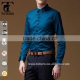 2016 Newest design banded men shirts round bottom slim fit casaul man shirts
