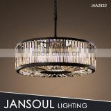Zhongshan dining room black round pendant light fixture