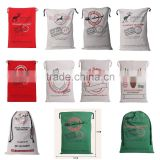 Stock Monogram Christmas Canvas Santa Sacks