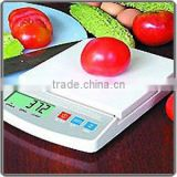 Top Quality Electronic Kitchen Scale White ABS Platform LCD Display Auo-off & Tare Food Scale