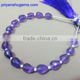 Amethyst Hand made 5*8 mm 39 ct Faceted Drops straight drilled 6 inches strand length natural gemstones