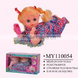 electric lovely angel lying baby doll with phone musical toy
