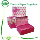 high quality colorful customized handmade shoe shirt paper gift box for packaging with knot