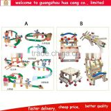 Classic wooden constructionn preschool kids table toys Wooden construction preschool toys