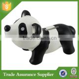 2015 New Arrival Resin Animal Shaped Panda Coin Bank