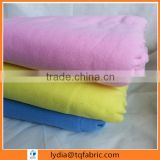 high quality 100% cotton solid color pink/yellow/blue dyed woven flannel fabric for bed sheet