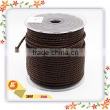 painting edges 3mm round leather cord picture twisted