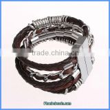 Wholesale 2013 Hot Sale Brown Color Leather Brazilian Style Bracelets FHB-001B