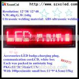 12*48 pixel usb low weight wear clothes programmable led badge, cheap price small sign led badge name card sign led mini board                                                                         Quality Choice