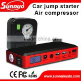 Multi-function Emergency Tool(c) 12000mAh Mini Car Jump Starter Car Power Bank with air compressor