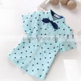 Hot sale 2015 summer fashion children's clothes cotton casual softtextile wholesale cotton kids shirt