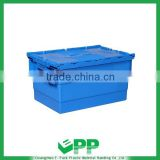 Plastic Containers with lid, Moving Containers with lid, Stacking containers , Logistics Containers , Stack Nest Crate with lid