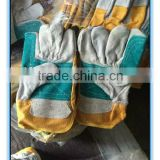 Mixed color cow split leather working gloves                                                                         Quality Choice